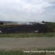 Ballenpresse- und Flächenbrand